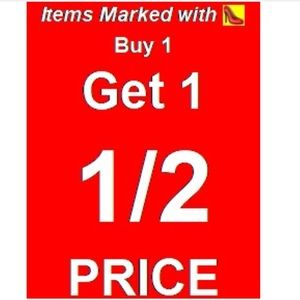 Other - Items marked with 👠 are buy 1 get 1 half off